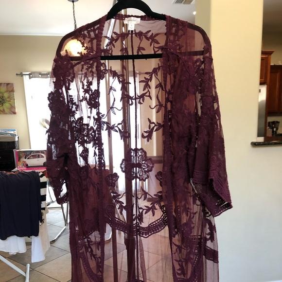 Tops - Lace kimono